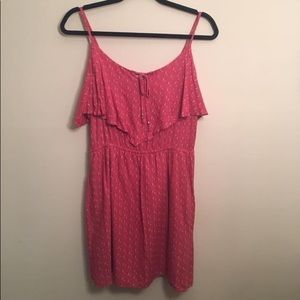 American Eagle Outfitters Coral Dress with cutout